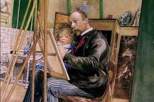 이케아의 '모토' 칼 라르손이 그린 '가족과 행복'